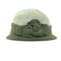 Image for Sheep By The Sea Wool Stylish Hat, Two Tone Green