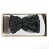 Image for Heritage Tweed Bow Tie, Moss Green