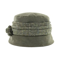 Image for Mucros Weavers Kate Wax Hat, Olive Green