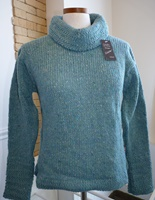 Image for Irish Swing Z Sleeve Turtle Neck Sweater, Light Blue