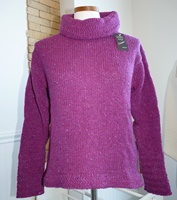 Image for Swing Z Sleeve Turtle Neck Sweater, Bright Purple
