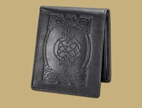 Image for Lee River Leather Celtic Pocket Wallet, Black