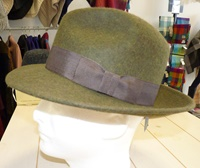 Image for Shevlin Loden Wool Mix French Trilby. Chocolate Trim