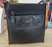 Image for Celtic Embossed Knot Mary Bag, Black by Lee River
