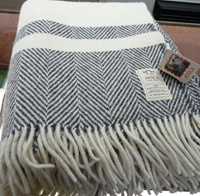 Image for Avoca Handweavers Heavy Donegal Throw, Grey
