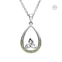Image for Platinum Plated Peridot Trinity Pendant