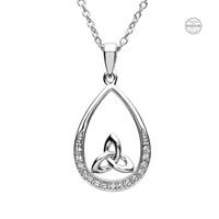 Image for Platinum Plated White Trinity Pendant