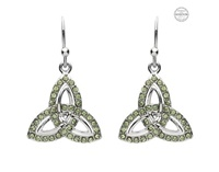 Image for Platinum Plated Peridot Trinity Drop Earrings