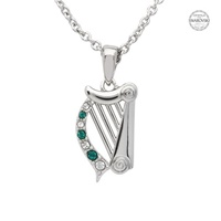 Image for Platinum Plated Harp Necklace