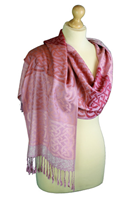 Image for Cathaigh Woven Celtic Pashmina Scarf , Pink