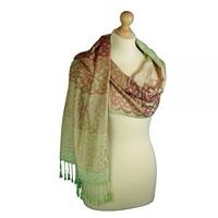 Image for Earth Tones Arranmore Celtic Woven Pashmina Scarf