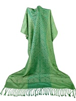 Image for Innisfree Celtic Woven Shawl, Green