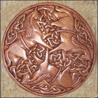 Image for Blue Frogs CM-14 Handcarved Wooden Celtic Motif