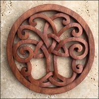 Image for Blue Frogs CM-16-5 Handcarved Wooden Tree of Life