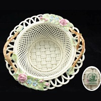 Image for Belleek China Summer Garden Basket