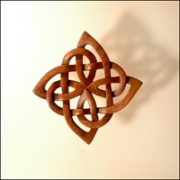 Image for Blue Frogs SK-03 Handcarved Wooden Celtic Knot