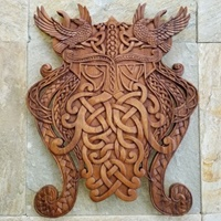 Image for Blue Frogs VM-33 Handcarved Wooden Odin