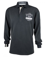 Image for Guinness Classic Black Washed Rugby Jersey