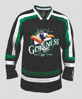 Image for Guinness Toucan Hockey Jersey, Black & Green