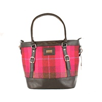 Image for Mucros Weavers Pocketbook Kelly Bag Fuscia
