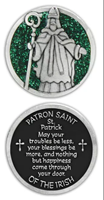 Image for Bright Finish St. Patrick Pocket Token with Hand-Painted Sparkle Enamel