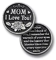 Image for Bright Finish Mom I Love You Pocket Token