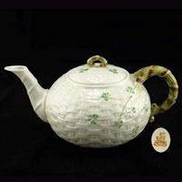 Image for Belleek Shamrock Teapot (7th Mark)