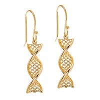 Image for Celtic DNA 14K Yellow Gold Earrings