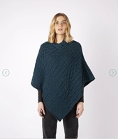 Image for Elm Patchwork Poncho, Atlantic Blue