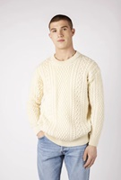 Image for Cuileann Crew Neck Wool Sweater, Natural