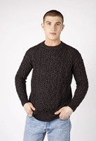 Image for Fearnog Aran Crew Neck Sweater, Anthracite