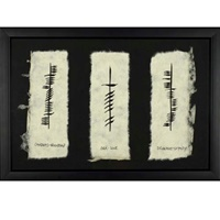 "Image for Ogham ""Friendship, Love, & Loyalty"" Framed"