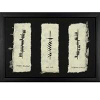"""Image for Ogham """"Friendship, Love, & Loyalty"""" Framed"""