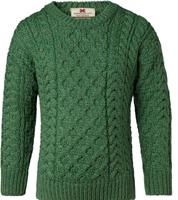 Image for Kids Irish Aran Merino Wool Sweater, Green