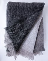 Image for Avoca Handweavers Mohair Throw in Charcoal Ombre