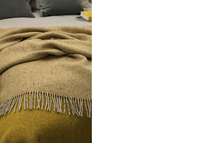 Image for Avoca Handweavers Heavy Donegal Throw, Yellow-Oatmeal