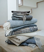 Image for Avoca Handweavers Heavy Donegal Throw, Navy Oatmeal