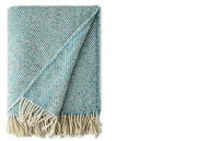 Image for Avoca Handweavers Heavy Donegal Throw, Teal Dapple