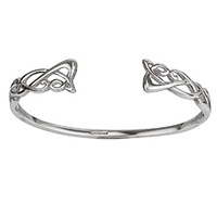 Image for Sterling Silver Torc Bangle - Failte