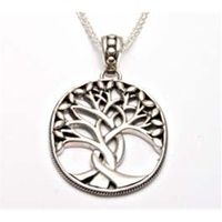 Image for Keith Jack Tree of Life, Large Sterling Silver