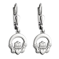 Image for Solvar Sterling Silver Claddagh Drop Earrings