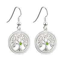 Image for Sterling Silver Tree of Life Drop Earrings
