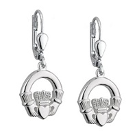 Image for Dangle Claddagh Earrings Lever Back