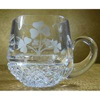 Image for Galway Irish Crystal Shamrock Christening Cup