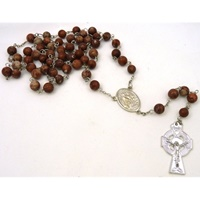 Image for Cork Red Marble Irish Rosary