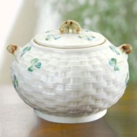 Image for Belleek China Shamrock Sugar Bowl