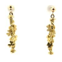 Image for Yellow Gold Shamrock Earrings
