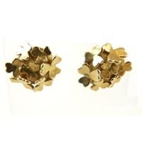 Image for Yellow Gold Shamrock Cluster Earrings