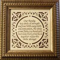 Image for Dark Contemporary Our Family Wall Hanging, Small