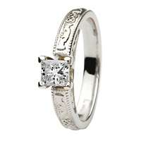 Image for Coleen 14kt White Gold Princess Cut Engagement Ring